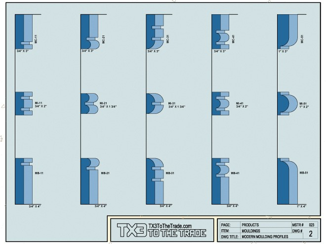 Tx3 to the trade products architectural mouldings for Contemporary trim profiles