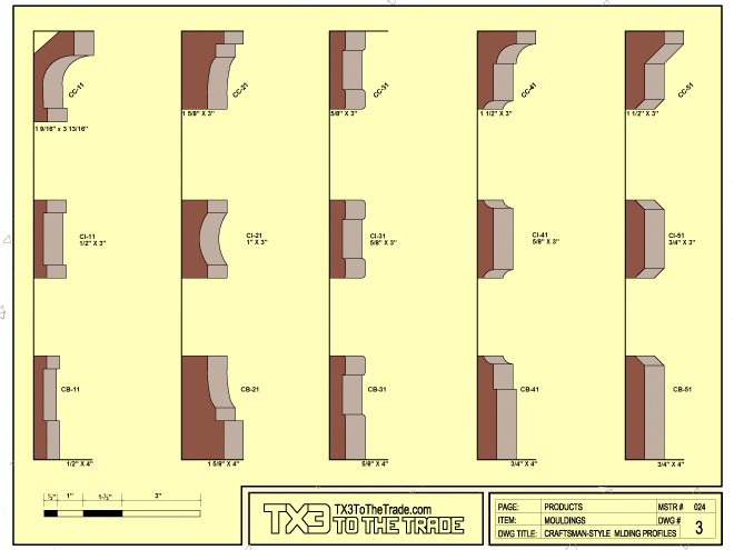Craftsman Style Moulding Profiles