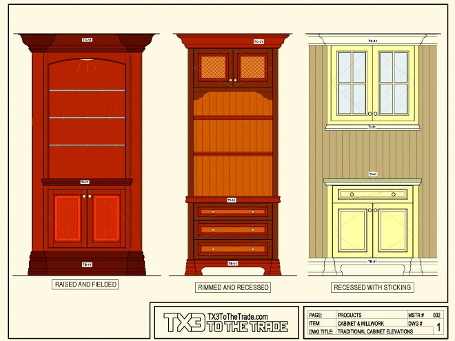 Traditional Cabinet Elevations